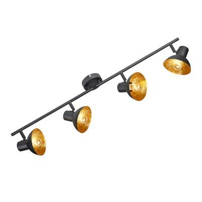 Светильник LOFT LSP-9976С 4 лампами<br><br><br>Тип лампы: Накаливания / энергосбережения / светодиодная<br>Тип цоколя: E14<br>Цвет арматуры: черный<br>Количество ламп: 4<br>Ширина, мм: 120<br>Высота, мм: 150<br>MAX мощность ламп, Вт: 40