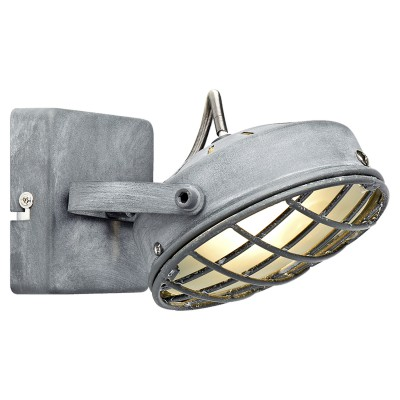 Светильник LOFT LSP-9979Одиночные<br><br><br>Тип лампы: галогенная/LED<br>Тип цоколя: G9<br>Цвет арматуры: серый<br>Количество ламп: 1<br>Ширина, мм: 130<br>Расстояние от стены, мм: 150<br>Высота, мм: 100<br>MAX мощность ламп, Вт: 40