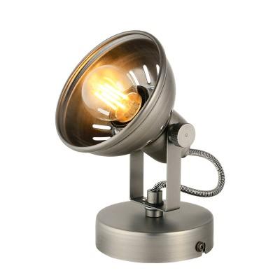 Спот Loft LSP-9983Одиночные<br><br><br>Тип лампы: Накаливания / энергосбережения / светодиодная<br>Тип цоколя: E27<br>Количество ламп: 1<br>Ширина, мм: 140<br>MAX мощность ламп, Вт: 60<br>Длина, мм: 130<br>Высота, мм: 190