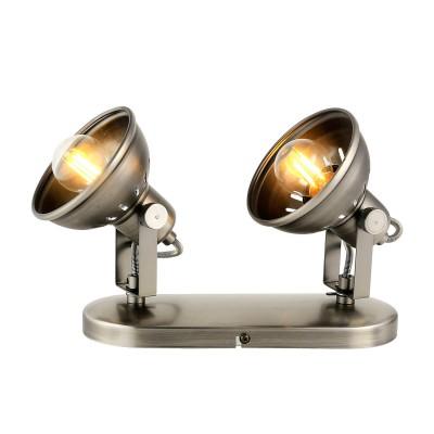Спот Loft LSP-9984Двойные<br><br><br>Тип лампы: Накаливания / энергосбережения / светодиодная<br>Тип цоколя: E27<br>Количество ламп: 2<br>Ширина, мм: 300<br>MAX мощность ламп, Вт: 60<br>Длина, мм: 130<br>Высота, мм: 190