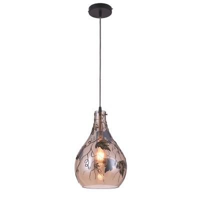 Подвес Loft LSP-9987Одиночные<br><br><br>Установка на натяжной потолок: Ограничено<br>S освещ. до, м2: 3<br>Тип лампы: накаливания / энергосбережения / LED-светодиодная<br>Тип цоколя: E27<br>Количество ламп: 1<br>MAX мощность ламп, Вт: 60<br>Диаметр, мм мм: 250<br>Высота, мм: 1200<br>Цвет арматуры: черный