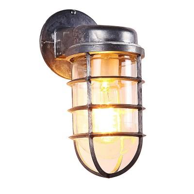 Светильник Lussole Loft LSP-9988Лофт<br><br><br>Тип лампы: Накаливания / энергосбережения / светодиодная<br>Тип цоколя: E27<br>Количество ламп: 1<br>Ширина, мм: 100<br>MAX мощность ламп, Вт: 60<br>Расстояние от стены, мм: 150<br>Высота, мм: 240