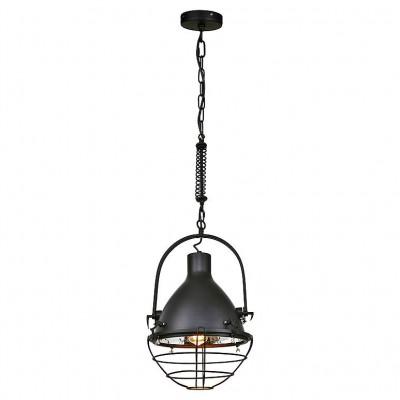 Светильник Lussole Loft LSP-9989Одиночные<br><br><br>Тип лампы: Накаливания / энергосбережения / светодиодная<br>Тип цоколя: E27<br>Количество ламп: 1<br>MAX мощность ламп, Вт: 60<br>Диаметр, мм мм: 330<br>Высота, мм: 450 - 1200