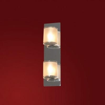 Светильник Lussole LSQ-3401-02 Cappello хромМодерн<br>Настенно-потолочные светильники подходят как для установки на стены, так и для установки на потолок. Для установки настенно-потолочные светильники на натяжные потолки необходимо<br><br>S освещ. до, м2: 6<br>Тип лампы: галогенная / LED-светодиодная<br>Тип цоколя: G9<br>Количество ламп: 2<br>Ширина, мм: 80<br>MAX мощность ламп, Вт: 40<br>Расстояние от стены, мм: 90<br>Высота, мм: 260<br>Оттенок (цвет): белый<br>Цвет арматуры: серебристый