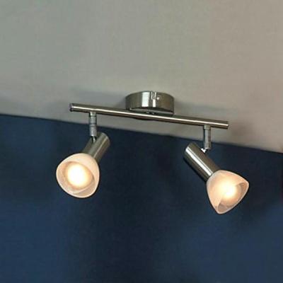 Светильник Lussole LSQ-4101-02 Leggero никельДвойные<br>Двойной светильник-спот Lussole LSQ-4101-02 серебристого оттенка – приятная возможность наполнить отдельные зоны помещения ярким сиянием при минимальной занятости пространства. Маленькие размеры изделия позволят создать целый микс из нескольких источников излучения. Важным функциональным преимуществом светильника Lussole LSQ-4101-02 является наличие двух поворотных спотов, которые позволят по-разному обыгрывать распределение потоков сияния. Это выгодно для реализации различных дизайнерских задумок и практично. Воспользуйтесь всеми преимуществами универсального светильника Lussole LSQ-4101-02, чтобы и на Ваших просторах был воссоздан оптимальный поток ярких лучей.<br><br>S освещ. до, м2: 6<br>Тип лампы: накал-я - энергосбер-я<br>Тип цоколя: E14<br>Количество ламп: 2<br>Ширина, мм: 80<br>MAX мощность ламп, Вт: 40<br>Расстояние от стены, мм: 170<br>Высота, мм: 380<br>Оттенок (цвет): белый<br>Цвет арматуры: серый