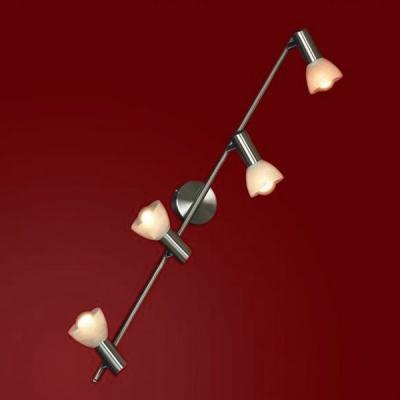 Светильник поворотный спот Lussole LSQ-4109-04 LEGGEROС 4 лампами<br>Светильник-спот Lussole LSQ-4109-04 – прекрасная возможность заполнить помещение ярким сиянием при минимальной занятости пространства. Оптимальные размеры изделия позволят создать целый микс из нескольких источников излучения или просто солировать. Важным функциональным преимуществом светильника Lussole LSQ-4109-04 является наличие четырёх поворотных спотов, что позволит по-разному обыгрывать распределение потоков сияния. Это выгодно для реализации различных дизайнерских задумок и просто практично в использовании. Воспользуйтесь всеми преимуществами универсального светильника Lussole LSQ-4109-04, чтобы и на Ваших просторах был воссоздан оптимальный поток ярких лучей.<br><br>S освещ. до, м2: 11<br>Тип лампы: накал-я - энергосбер-я<br>Тип цоколя: E14<br>Цвет арматуры: серый<br>Количество ламп: 4<br>Ширина, мм: 80<br>Расстояние от стены, мм: 170<br>Высота, мм: 870<br>Оттенок (цвет): белый<br>MAX мощность ламп, Вт: 40