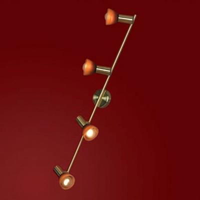 Светильник Lussole LSQ-4199-04 Leggero золотоС 4 лампами<br>Светильник-спот Lussole LSQ-4199-04 оттенка «матовое золото» – уникальная возможность заполнить помещение ярким сиянием при минимальной занятости пространства. Оптимальные размеры изделия позволят создать целый микс из нескольких источников излучения или просто солировать. Важным функциональным преимуществом светильника Lussole LSQ-4199-04 является наличие четырёх поворотных спотов, что позволит интересно обыгрывать распределение потоков сияния. Это выгодно для реализации различных дизайнерских задумок и просто практично. Воспользуйтесь преимуществами модного светильника Lussole LSQ-4199-04, чтобы и на Ваших просторах был воссоздан оптимальный поток ярких лучей.<br><br>S освещ. до, м2: 11<br>Тип лампы: накал-я - энергосбер-я<br>Тип цоколя: E14<br>Количество ламп: 4<br>Ширина, мм: 80<br>MAX мощность ламп, Вт: 40<br>Расстояние от стены, мм: 170<br>Высота, мм: 870<br>Оттенок (цвет): красный/оранжевый<br>Цвет арматуры: золотой