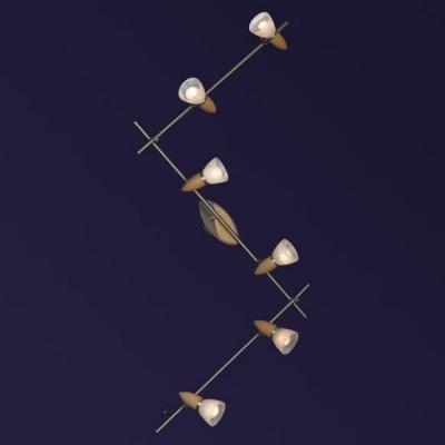 Светильник Lussole LSQ-6419-06 Cisterno матовый никельБолее 5 ламп<br><br><br>S освещ. до, м2: 16<br>Тип товара: Светильник поворотный спот<br>Скидка, %: 22<br>Тип лампы: накал-я - энергосбер-я<br>Тип цоколя: E14<br>Количество ламп: 6<br>Ширина, мм: 9<br>MAX мощность ламп, Вт: 40<br>Длина, мм: 200<br>Расстояние от стены, мм: 22<br>Цвет арматуры: деревянный