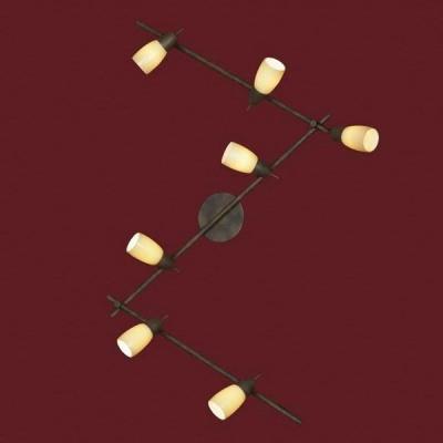 Светильник Lussole LSQ-6919-06 Cevedale стилизованная ржавчинаБолее 5 ламп<br>Трековый светильник обладает гибкостью конфигурации, учитывающей особенности каждого помещения. Его можно установить не только на потолке, но и на стенах, также есть возможность регулировать высоту конструкции. Кроме того вы можете самостоятельно управлять яркостью, например, направив плафоны на потолок, вы получите рассеянный и мягкий свет, а повернув оси вниз, создадите направленное яркое освещение. Светильник будет эффектно выделяться в интерьере в стиле «модерн», и подчеркивать ваш безупречный вкус!<br><br>S освещ. до, м2: 16<br>Тип лампы: накал-я - энергосбер-я<br>Тип цоколя: e14<br>Количество ламп: 6<br>Ширина, мм: 11<br>MAX мощность ламп, Вт: 40<br>Длина, мм: 193<br>Расстояние от стены, мм: 20<br>Цвет арматуры: коричневый