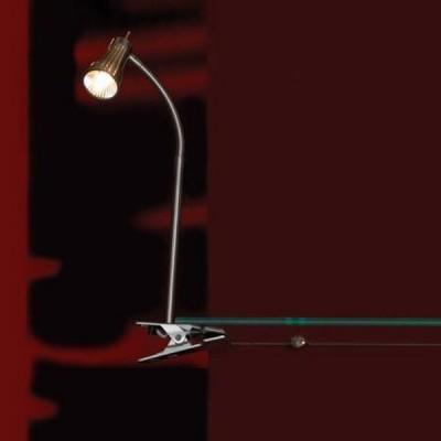 Настольная лампа Lussole LSQ-7990-01 Chiarzo никельНа прищепке<br>Светильники-споты – это оригинальные изделия с современным дизайном. Они позволяют не ограничивать свою фантазию при выборе освещения для интерьера. Такие модели обеспечивают достаточно качественный свет. Благодаря компактным размерам Вы можете использовать несколько спотов для одного помещения.  Интернет-магазин «Светодом» предлагает необычный светильник-спот Lussole LSQ-7990-01 по привлекательной цене. Эта модель станет отличным дополнением к люстре, выполненной в том же стиле. Перед оформлением заказа изучите характеристики изделия.  Купить светильник-спот Lussole LSQ-7990-01 в нашем онлайн-магазине Вы можете либо с помощью формы на сайте, либо по указанным выше телефонам. Обратите внимание, что у нас склады не только в Москве и Екатеринбурге, но и других городах России.<br><br>S освещ. до, м2: 3<br>Тип лампы: галогенная / LED-светодиодная<br>Тип цоколя: G9<br>Количество ламп: 1<br>Ширина, мм: окт.19<br>MAX мощность ламп, Вт: 40<br>Длина, мм: 28-34<br>Расстояние от стены, мм: 6<br>Цвет арматуры: серый