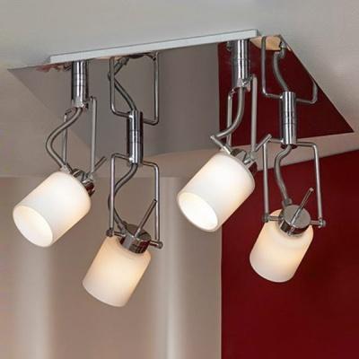 Светильник Lussole LSQ-8611-04 Imperia хромПотолочные<br><br><br>S освещ. до, м2: 10<br>Тип лампы: галогенная<br>Тип цоколя: G9<br>Количество ламп: 4<br>Ширина, мм: 300<br>MAX мощность ламп, Вт: 40<br>Длина, мм: 300<br>Расстояние от стены, мм: 200<br>Оттенок (цвет): белый<br>Цвет арматуры: серебристый хром
