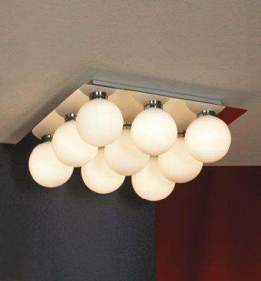 Светильники Lussole LSQ-8907-09 Malta хромПотолочные<br>Настенно потолочный светильник Lussole (Люссоль) LSQ-8907-09  подходит как для установки в вертикальном положении - на стены, так и для установки в горизонтальном - на потолок. Для установки настенно потолочных светильников на натяжной потолок необходимо<br><br>Установка на натяжной потолок: Ограничено<br>S освещ. до, м2: 12<br>Крепление: Планка<br>Тип лампы: галогенная / LED-светодиодная<br>Тип цоколя: G9<br>Количество ламп: 9<br>Ширина, мм: 300<br>MAX мощность ламп, Вт: 40<br>Длина, мм: 300<br>Высота, мм: 120<br>Оттенок (цвет): белый<br>Цвет арматуры: серебристый