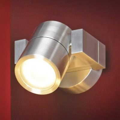 Светильник настенный бра Lussole LSQ-9501-01 VACRIХай-тек<br>Настенно-потолочные светильники подходят как для установки на стены, так и для установки на потолок. Для установки настенно-потолочные светильники на натяжные потолки необходимо<br><br>S освещ. до, м2: 4<br>Тип лампы: галогенная / LED-светодиодная<br>Тип цоколя: GU10<br>Цвет арматуры: серый<br>Количество ламп: 1<br>Ширина, мм: 90<br>Расстояние от стены, мм: 130<br>Высота, мм: 70<br>MAX мощность ламп, Вт: 35