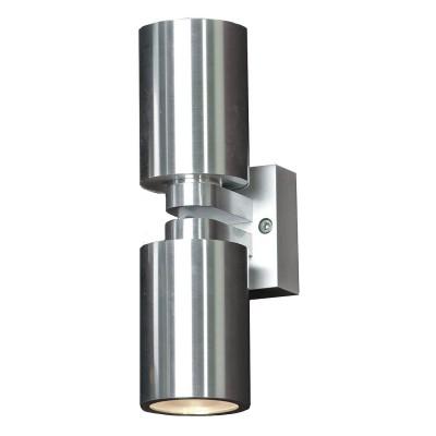 Светильник Lussole LSQ-9501-02 Vacri серебряный металлХай-тек<br>Настенно-потолочные светильники подходят как для установки на стены, так и для установки на потолок. Для установки настенно-потолочные светильники на натяжные потолки необходимо<br><br>S освещ. до, м2: 7<br>Тип лампы: галогенная / LED-светодиодная<br>Тип цоколя: GU10<br>Цвет арматуры: серый<br>Количество ламп: 2<br>Ширина, мм: 60<br>Расстояние от стены, мм: 90<br>Высота, мм: 190<br>MAX мощность ламп, Вт: 35