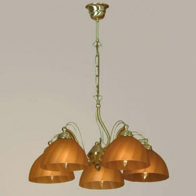 Люстра Lussole LSQ-9893-05 Moranzani золотоПодвесные<br>Люстра Lussole LSQ-9893-05 Moranzani с турбированными плафонами с золотым основанием будет кстати в гостиной или зале с высокими потолками<br><br>Установка на натяжной потолок: Да<br>S освещ. до, м2: 13<br>Тип лампы: накаливания / энергосбережения / LED-светодиодная<br>Тип цоколя: E14<br>Количество ламп: 5<br>MAX мощность ламп, Вт: 40<br>Диаметр, мм мм: 550<br>Высота, мм: 500-1550<br>Оттенок (цвет): янтарный<br>Цвет арматуры: Матовый золотой