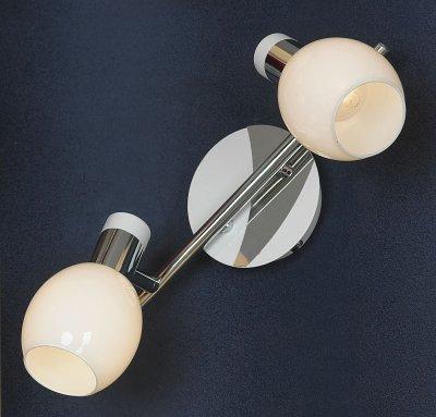 Светильник Lussole LSX-5001-02Двойные<br><br><br>S освещ. до, м2: 5<br>Тип товара: Светильник поворотный спот<br>Тип лампы: накал-я - энергосбер-я<br>Тип цоколя: E14<br>Количество ламп: 2<br>Ширина, мм: 300<br>MAX мощность ламп, Вт: 40<br>Длина, мм: 170<br>Расстояние от стены, мм: 200