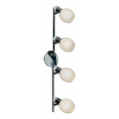 Светильник Lussole LSX-5009-04С 4 лампами<br>Светильники-споты – это оригинальные изделия с современным дизайном. Они позволяют не ограничивать свою фантазию при выборе освещения для интерьера. Такие модели обеспечивают достаточно качественный свет. Благодаря компактным размерам Вы можете использовать несколько спотов для одного помещения.  Интернет-магазин «Светодом» предлагает необычный светильник-спот Lussole LSX-5009-04 по привлекательной цене. Эта модель станет отличным дополнением к люстре, выполненной в том же стиле. Перед оформлением заказа изучите характеристики изделия.  Купить светильник-спот Lussole LSX-5009-04 в нашем онлайн-магазине Вы можете либо с помощью формы на сайте, либо по указанным выше телефонам. Обратите внимание, что мы предлагаем доставку не только по Москве и Екатеринбургу, но и всем остальным российским городам.<br><br>S освещ. до, м2: 10<br>Тип лампы: накал-я - энергосбер-я<br>Тип цоколя: E14<br>Количество ламп: 4<br>Ширина, мм: 170<br>MAX мощность ламп, Вт: 40<br>Расстояние от стены, мм: 200<br>Высота, мм: 690