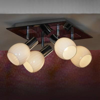 Светильник Lussole LSX-5507-04Потолочные<br>Компания «Светодом» предлагает широкий ассортимент люстр от известных производителей. Представленные в нашем каталоге товары выполнены из современных материалов и обладают отличным качеством. Благодаря широкому ассортименту Вы сможете найти у нас люстру под любой интерьер. Мы предлагаем как классические варианты, так и современные модели, отличающиеся лаконичностью и простотой форм.  Стильная люстра Flamelli FL3108-6C станет украшением любого дома. Эта модель от известного производителя не оставит равнодушным ценителей красивых и оригинальных предметов интерьера. Люстра Flamelli FL3108-6C обеспечит равномерное распределение света по всей комнате. При выборе обратите внимание на характеристики, позволяющие приобрести наиболее подходящую модель. Купить понравившуюся люстру по доступной цене Вы можете в интернет-магазине «Светодом».<br><br>Установка на натяжной потолок: Ограничено<br>S освещ. до, м2: 8<br>Крепление: Планка<br>Тип лампы: Накаливания / энергосбережения / светодиодная<br>Тип цоколя: E14<br>Количество ламп: 4<br>Ширина, мм: 290<br>MAX мощность ламп, Вт: 40<br>Длина, мм: 290<br>Высота, мм: 180<br>Цвет арматуры: серебристый
