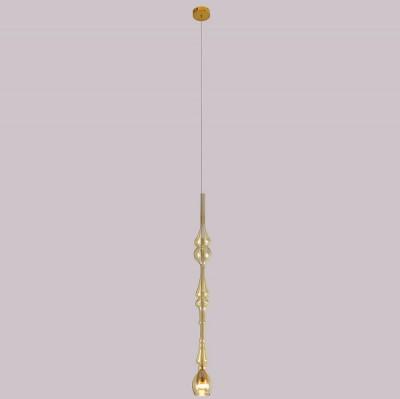 Светильник подвесной Crystal lux LUX SP1 D AMBER 2267/201Одиночные<br>Подвесной светильник – это универсальный вариант, подходящий для любой комнаты. Сегодня производители предлагают огромный выбор таких моделей по самым разным ценам. В каталоге интернет-магазина «Светодом» мы собрали большое количество интересных и оригинальных светильников по выгодной стоимости. Вы можете приобрести их в Москве, Екатеринбурге и любом другом городе России.  Подвесной светильник Crystal lux LUX SP1 D AMBER сразу же привлечет внимание Ваших гостей благодаря стильному исполнению. Благородный дизайн позволит использовать эту модель практически в любом интерьере. Она обеспечит достаточно света и при этом легко монтируется. Чтобы купить подвесной светильник Crystal lux LUX SP1 D AMBER, воспользуйтесь формой на нашем сайте или позвоните менеджерам интернет-магазина.<br><br>Цветовая t, К: 3000K<br>Тип цоколя: LED<br>Цвет арматуры: Золотой<br>Количество ламп: 1<br>Диаметр, мм мм: 60<br>Длина цепи/провода, мм: 1000<br>Высота, мм: 700<br>MAX мощность ламп, Вт: 3