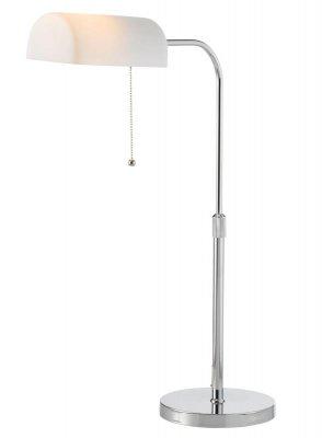 Настольная лампа LampGustaf 550326 AUSTINОфисные<br>Настольная лампа – это не просто источник дополнительного освещения, но и оригинальный элемент декора. Его можно установить в спальне, гостиной, кабинете и других комнатах. Интернет-магазин «Светодом» предлагает настольные лампы разных стилей по доступным ценам. Благодаря большому ассортименту Вы обязательно найдете в нашем каталоге именно ту модель, которую искали.   Настольная лампа LampGustaf 550326 – прекрасный вариант для завершения интерьера. Ее можно включить одновременно с люстрой для более яркого освещения или без нее для создания уютной атмосферы, настраивающей на отдых.   Купить настольную лампу LampGustaf 550326 Вы можете с помощью виртуальной «Корзины» или по контактным номерам, указанным на сайте.<br><br>S освещ. до, м2: 4<br>Тип лампы: накал-я - энергосбер-я<br>Тип цоколя: E27<br>Количество ламп: 1<br>Ширина, мм: 440<br>MAX мощность ламп, Вт: 60<br>Длина, мм: 200<br>Высота, мм: 500-680<br>Цвет арматуры: серебристый