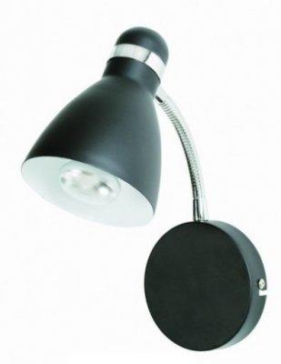 Бра LampGustaf 871806 VIKTORАрхив<br><br><br>S освещ. до, м2: 2<br>Тип лампы: накаливания / энергосбережения / LED-светодиодная<br>Тип цоколя: E14<br>Количество ламп: 1<br>Ширина, мм: 110<br>MAX мощность ламп, Вт: 40<br>Длина, мм: 210<br>Высота, мм: 230<br>Цвет арматуры: черный