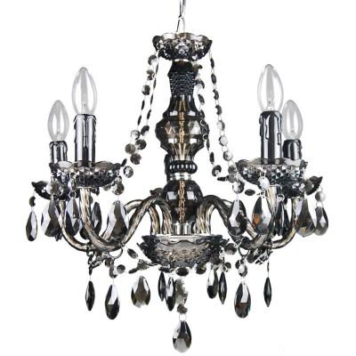 Люстра Lamplandia 3524 AmaliaПодвесные<br>Стильная люстра с металлическим основанием цвета хром .Декоративные элементы выполнены из акрила дымчатого цвета , имеют хорошую  прочность .<br><br>Установка на натяжной потолок: Да<br>S освещ. до, м2: 13<br>Крепление: Крюк<br>Тип лампы: накаливания / энергосбережения / LED-светодиодная<br>Тип цоколя: E14<br>Количество ламп: 5<br>MAX мощность ламп, Вт: 40<br>Диаметр, мм мм: 540<br>Высота, мм: 500 - 1000<br>Цвет арматуры: серебристый