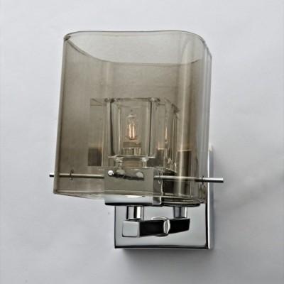 Светильник спот Lamplandia 9115 BlaskХай-тек<br>Стильный спот с  металлическим основанием цвета хром . Плафон прозрачный внутри дымчатый снаружи .<br><br>S освещ. до, м2: 2<br>Крепление: настольный<br>Тип цоколя: G9<br>Количество ламп: 1<br>MAX мощность ламп, Вт: 40<br>Цвет арматуры: серый