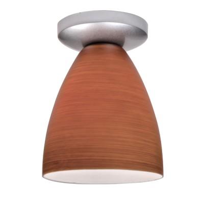 Потолочный светильник Lamplandia 2239 Tomy new brownПотолочные<br>Потолочный светильник с металлическим основанием хромированного цвета  и плафоном цвета - матовый опал. Подходит для освещения на кухне, корридоре.17*19 см  1*Е27*100 Вт<br><br>Установка на натяжной потолок: Ограничено<br>S освещ. до, м2: 5<br>Крепление: Планка<br>Тип лампы: накаливания / энергосбережения / LED-светодиодная<br>Тип цоколя: E27<br>Количество ламп: 1<br>Диаметр, мм мм: 170<br>Высота, мм: 190<br>MAX мощность ламп, Вт: 100