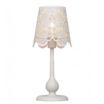 Настольная лампа Lamplandia 4346 LisaСовременные<br>Настольная лампа из металла белого цвета.  Абажур из белого перфорированного металла. Прекрасно вписывается в любой интерьер.<br><br>S освещ. до, м2: 2<br>Крепление: настольный<br>Тип лампы: накаливания / энергосбережения / LED-светодиодная<br>Тип цоколя: E14<br>Цвет арматуры: белый<br>Количество ламп: 1<br>Диаметр, мм мм: 280<br>Высота, мм: 400<br>MAX мощность ламп, Вт: 40