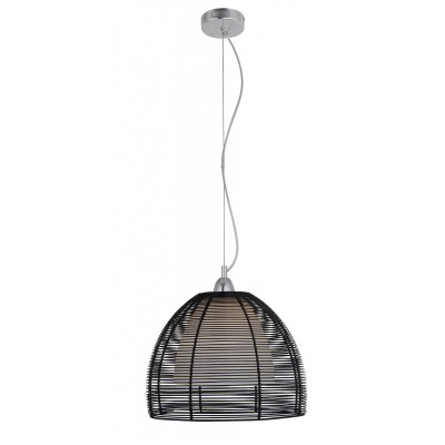 Светильник Lamplandia 3105-1 MikiОдиночные<br>Подвес. Традиционная модель. Выполнена из металлического плафона черного цвета сс внутренним стеклом матового цвета. Походит для освещения кухни.<br><br>S освещ. до, м2: 2<br>Крепление: потолочный<br>Тип лампы: накаливания / энергосбережения / LED-светодиодная<br>Тип цоколя: E27<br>Цвет арматуры: серый<br>Количество ламп: 1<br>Диаметр, мм мм: 320<br>Высота, мм: 420 - 1180<br>MAX мощность ламп, Вт: 40