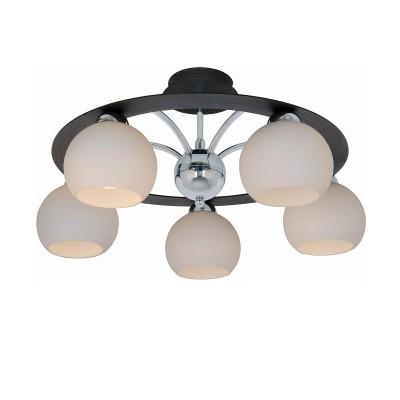 Люстра Lamplandia 3166-5 PatoПотолочные<br>Классическая модель выполнена из металла цвета хром-темно-коричневый, с деревянными вставками цвета Венге<br><br>Установка на натяжной потолок: Да<br>S освещ. до, м2: 13<br>Крепление: Планка<br>Тип лампы: накаливания / энергосбережения / LED-светодиодная<br>Тип цоколя: E14<br>Цвет арматуры: коричневый<br>Количество ламп: 5<br>Ширина, мм: 550<br>Длина, мм: 550<br>Высота, мм: 250<br>MAX мощность ламп, Вт: 40