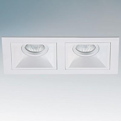 Lightstar AVANZA 214520 СветильникДекоративные<br><br><br>Тип товара: Светильник<br>Тип лампы: накаливания / энергосберегающая / светодиодная<br>Тип цоколя: GU/GX5.3<br>Количество ламп: 2<br>Ширина, мм: 110<br>MAX мощность ламп, Вт: 50<br>Длина, мм: 206<br>Высота, мм: 5<br>Поверхность арматуры: матовый<br>Цвет арматуры: белый<br>Общая мощность, Вт: 100