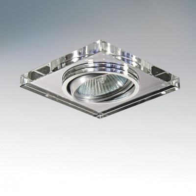 Lightstar RIFLE 2524 СветильникКвадратные<br>Встраиваемые светильники – популярное осветительное оборудование, которое можно использовать в качестве основного источника или в дополнение к люстре. Они позволяют создать нужную атмосферу атмосферу и привнести в интерьер уют и комфорт.   Интернет-магазин «Светодом» предлагает стильный встраиваемый светильник Lightstar 2524. Данная модель достаточно универсальна, поэтому подойдет практически под любой интерьер. Перед покупкой не забудьте ознакомиться с техническими параметрами, чтобы узнать тип цоколя, площадь освещения и другие важные характеристики.   Приобрести встраиваемый светильник Lightstar 2524 в нашем онлайн-магазине Вы можете либо с помощью «Корзины», либо по контактным номерам. Мы развозим заказы по Москве, Екатеринбургу и остальным российским городам.<br><br>Цветовая t, К: 2400-2800<br>Тип лампы: накаливания / энергосберегающая / светодиодная<br>Тип цоколя: gu5.3<br>Цвет арматуры: серебристый<br>Количество ламп: 1<br>Ширина, мм: 90<br>Длина, мм: 90<br>Высота, мм: 10<br>Поверхность арматуры: прозрачный<br>MAX мощность ламп, Вт: 50