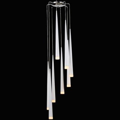 Lightstar PUNTO 807086 Светильник подвеснойПодвесные<br>Компания «Светодом» предлагает широкий ассортимент люстр от известных производителей. Представленные в нашем каталоге товары выполнены из современных материалов и обладают отличным качеством. Благодаря широкому ассортименту Вы сможете найти у нас люстру под любой интерьер. Мы предлагаем как классические варианты, так и современные модели, отличающиеся лаконичностью и простотой форм.   Стильная люстра Lightstar 807086 станет украшением любого дома. Эта модель от известного производителя не оставит равнодушным ценителей красивых и оригинальных предметов интерьера. Люстра Lightstar 807086 обеспечит равномерное распределение света по всей комнате. При выборе обратите внимание на характеристики, позволяющие приобрести наиболее подходящую модель.   Купить понравившуюся люстру по доступной цене Вы можете в интернет-магазине «Светодом».<br><br>Установка на натяжной потолок: Да<br>S освещ. до, м2: 16<br>Крепление: Планка<br>Цветовая t, К: 2400-2800<br>Тип лампы: галогенная/LED<br>Тип цоколя: G9<br>Количество ламп: 8<br>MAX мощность ламп, Вт: 40<br>Диаметр, мм мм: 350<br>Высота, мм: 2250<br>Поверхность арматуры: глянцевый<br>Цвет арматуры: серебристый<br>Общая мощность, Вт: 320