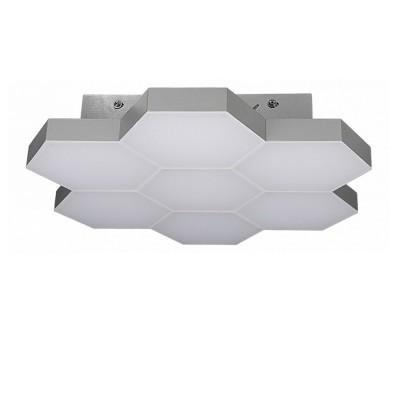 Люстра потолочная Lightstar 750072 FAVOлюстры хай тек потолочные<br>Высота min-max (см): 7,5; Ширина (см): 38; Вес (кг): 2,55; Кол-во ламп: LED; Мощность max (W): 35; Световой поток:<br>1680LM; Цвет основания/цвет стекла или абажура: Silver; 3000K<br><br>Крепление: планка<br>Цветовая t, К: 4000<br>Тип лампы: LED<br>Цвет арматуры: хром<br>Ширина, мм: 380<br>Высота полная, мм: 75<br>Размеры основания, мм: 245*245<br>Поверхность арматуры: глянцевая<br>Оттенок (цвет): серебристый хром<br>MAX мощность ламп, Вт: 35<br>Общая мощность, Вт: 350