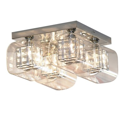Люстра Lussole Lsc-8007-04Потолочные<br><br><br>Установка на натяжной потолок: Да<br>S освещ. до, м2: 8<br>Крепление: Планка<br>Тип товара: Люстра<br>Тип лампы: галогенная / LED-светодиодная<br>Тип цоколя: G9<br>Количество ламп: 4<br>Ширина, мм: 280мм<br>MAX мощность ламп, Вт: 40<br>Длина, мм: 280мм<br>Высота, мм: 160мм<br>Оттенок (цвет): Бесцветный<br>Цвет арматуры: серебристый