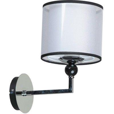 Светильник настенный бра Lussole LSF-2201-01 VignolaСовременные<br>Настенный светильник Lussole Lsf-2201-01 отвечает всем современным тенденциям в освещении! «Минималистичная» конструкция без декоративных элементов, «строгие» формы и линии, стильные оттенки черного и белого создают эффектный образ, который идеально дополнит  Ваш интерьер, внесет в него неповторимую красоту, яркость и элегантность. Плафон выполнен из плотной ткани, поэтому создаваемое освещение получается «сдержанным» и приятным для зрения. Лучше всего настенные бра использовать в комплекте из нескольких экземпляров, люстрой, торшером и настольной лампой из этой же серии, чтобы создать единый образ и сделать пространство комнаты «цельным» и совершенным.<br><br>S освещ. до, м2: 3<br>Тип лампы: накаливания / энергосбережения / LED-светодиодная<br>Тип цоколя: e27<br>Цвет арматуры: серебристый<br>Количество ламп: 1<br>Ширина, мм: 270мм<br>Выступ, мм: 180мм<br>Высота, мм: 310мм<br>Оттенок (цвет): белый<br>MAX мощность ламп, Вт: 60