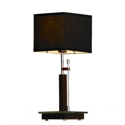 Светильник настольный Lussole Lsf-2574-01Современные<br><br><br>S освещ. до, м2: 3<br>Тип товара: настольная лампа<br>Тип лампы: накаливания / энергосбережения / LED-светодиодная<br>Тип цоколя: E27<br>Количество ламп: 1<br>Ширина, мм: 180<br>MAX мощность ламп, Вт: 60<br>Высота, мм: 460<br>Оттенок (цвет): черный<br>Цвет арматуры: серебристый