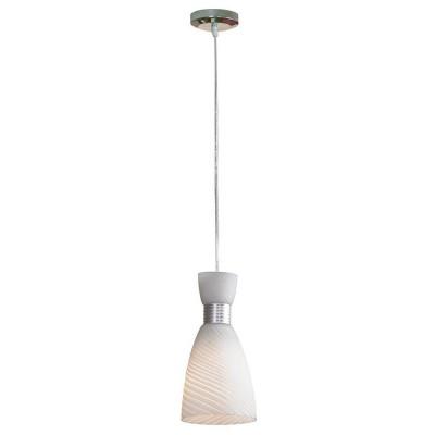 Светильник Lussole Lsf-7306-01Одиночные<br>Подвесной итальянский светильник Lussole Lsf-7306-01 станет отличной заменой привычной массивной люстры, ведь в современном интерьере отдается предпочтение легким, оригинальным вещам с минимальным количеством декоративных элементов. Стильная конструкция, светлые оттенки, необычная форма плафона создают эффектный и запоминающийся образ, который идеально впишется в любую комнату – от спальни до гостиной или кухни. Наиболее «выигрышно» использовать светильник в качестве подсветки небольшой «зоны», например, кресла с журнальным столиком, рабочего стола, зеркала, барной стойки и т.п.<br><br>S освещ. до, м2: 3<br>Тип цоколя: E27<br>Количество ламп: 1<br>MAX мощность ламп, Вт: 60