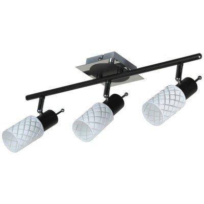 Светильник Lussole Lsx-5601-03Тройные<br>Светильники-споты – это оригинальные изделия с современным дизайном. Они позволяют не ограничивать свою фантазию при выборе освещения для интерьера. Такие модели обеспечивают достаточно качественный свет. Благодаря компактным размерам Вы можете использовать несколько спотов для одного помещения.  Интернет-магазин «Светодом» предлагает необычный светильник-спот Lussole LSX-5601-03 по привлекательной цене. Эта модель станет отличным дополнением к люстре, выполненной в том же стиле. Перед оформлением заказа изучите характеристики изделия.  Купить светильник-спот Lussole LSX-5601-03 в нашем онлайн-магазине Вы можете либо с помощью формы на сайте, либо по указанным выше телефонам. Обратите внимание, что у нас склады не только в Москве и Екатеринбурге, но и других городах России.<br><br>S освещ. до, м2: 6<br>Тип лампы: Накаливания<br>Тип цоколя: e14<br>Количество ламп: 3<br>Ширина, мм: 510мм<br>MAX мощность ламп, Вт: 40<br>Выступ, мм: 210мм<br>Высота, мм: 140мм<br>Оттенок (цвет): белый<br>Цвет арматуры: серебристый