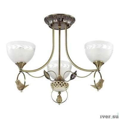 Светильник Lumion 3403/3CПотолочные<br><br><br>Тип лампы: Накаливания / энергосбережения / светодиодная<br>Тип цоколя: E27<br>Цвет арматуры: бронзовый<br>Количество ламп: 3<br>Диаметр, мм мм: 590<br>Высота полная, мм: 415<br>MAX мощность ламп, Вт: 60