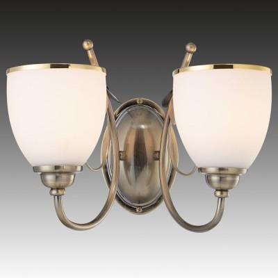 Светильник настенный бра Brizzi Nives MA 02640W/002 BronzeМодерн<br><br><br>S освещ. до, м2: 5<br>Тип лампы: накал-я - энергосбер-я<br>Тип цоколя: E27<br>Количество ламп: 2<br>Ширина, мм: 350<br>MAX мощность ламп, Вт: 40<br>Размеры: W 350 H 240<br>Высота, мм: 240<br>Цвет арматуры: бронзовый