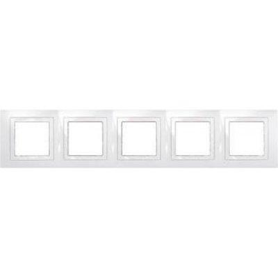 Unica Бел Рамка 5-ая с декор.элементом MGU2.010.18Unica белый<br><br><br>Оттенок (цвет): Белый