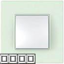 Рамка 4 поста матовое стекло Unica Quadro (Schneider Electric) MGU2.708.17Pамки Quadro<br>Технические характеристикиЦвет: Матовое стекло.Посты: 4.Модульность: 8.Размер: 300 х 87 мм.Степень защиты: IP40.Дополнительная информация:Материал - ASA + PC.<br><br>Оттенок (цвет): белый