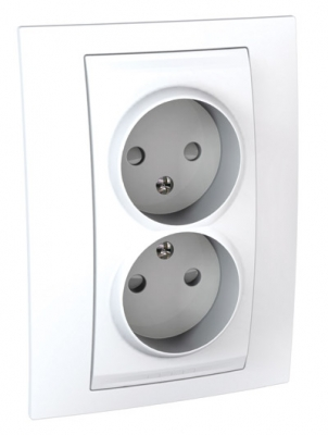 Розетка 2-ая б/з с защитными шторками винт. зажим, литая MGU23.063.18DUnica белый<br>Технические характеристикиМеханизм: розетка.Модульность: 2.Размеры: 90 х 123 мм.Тип: силовая.Степень защиты: IP40.Сила тока: 16 А.Номинальное напряжение: 250 В~.Стандарт: UNE 20315.Тип зажима жил провода: винтовой зажим.Сечение провода: 4 мм2.Походящие накладки: все MGU6.002.ххДополнительная информация:Без заземления, с защитными шторками, литая.<br><br>Оттенок (цвет): Белый