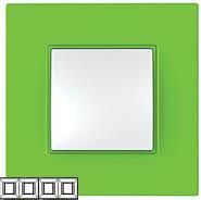 Рамка 4 поста киви Unica Quadro (Schneider Electric) MGU4.708.28Pамки Quadro<br>Технические характеристикиЦвет: Киви.Посты: 4.Модульность: 8.Размер: 300 х 87 мм.Степень защиты: IP40.Дополнительная информация:Материал - ASA + PC.<br><br>Оттенок (цвет): зеленый
