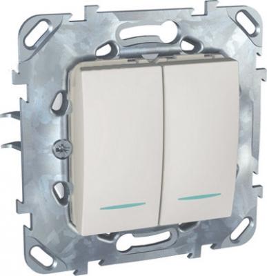 Выключатель 2-клавишный с подсветкой (сх 5) MGU5.0101.18NZDUnica белый<br>Технические характеристикиМеханизм: выключатель.Модульность: 2.Размеры: 70,9 х 70,9 мм.Степень защиты: IP40.Номинальное напряжение: 250 В~.Сечение провода: 2,5 мм2.Походящие накладки: все MGU6.002.хх.Дополнительная информация:Материал - цинковый сплав. С подсветкой,схема 5.<br><br>Оттенок (цвет): Белый