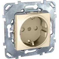 Розетка 1-ая с с/з винт. зажим бежевая MGU5.036.25ZDUnica бежевый<br>Технические характеристикиМеханизм: розетка.Модульность: 2.Размеры: 70,9 х 70,9 мм.Тип: силовая.Степень защиты: IP40.Сила тока: 16 А.Номинальное напряжение: 250 В~.Стандарт: UNE 20315.Тип зажима жил провода: винтовой зажим.Сечение провода: 4 мм2.Походящие накладки: все MGU6.002.ххДополнительная информация:С заземлением.<br><br>Оттенок (цвет): Бежевый