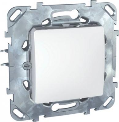 Выключатель 1-клавишный белый Unica MGU5.201.18ZDUnica белый<br>Технические характеристикиМеханизм: выключатель.Модульность: 2.Размеры: 70,9 х 70,9 мм.Степень защиты: IP40.Номинальное напряжение: 250 В~.Сечение провода: 2,5 мм2.Походящие накладки: все MGU6.002.хх.Дополнительная информация:Материал - цинковый сплав.<br><br>Оттенок (цвет): Белый
