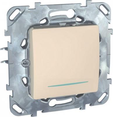 Выключатель/Переключатель 1-клавишный с подсветкой MGU5.203.25NZDUnica бежевый<br>Технические характеристикиМеханизм: переключатель.Модульность: 2.Размеры: 70,9 х 70,9 мм.Степень защиты: IP40.Номинальное напряжение: 250 В~.Сечение провода: 2,5 мм2.Походящие накладки: все MGU6.002.хх.Дополнительная информация:Материал - ASA + PC для крышки механизма, сплав zamak для монт. рамы. С подсветкой.<br><br>Оттенок (цвет): Бежевый